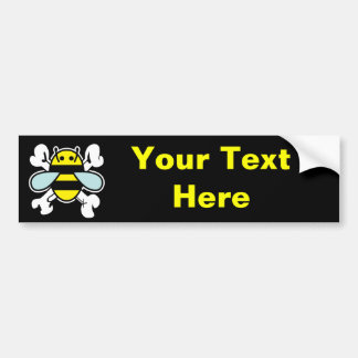 Pirate Bee bumpersticker Bumper Sticker