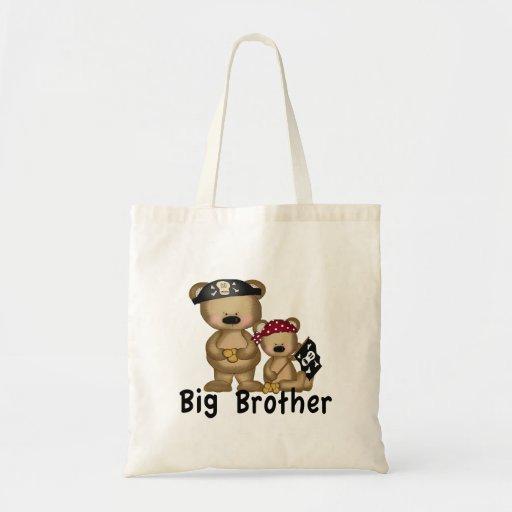 Pirate Big Brother Tote Bags