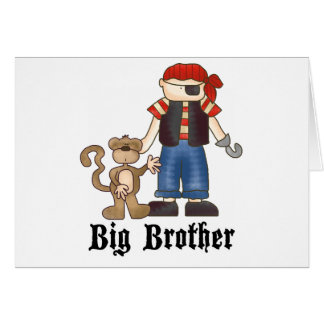 Pirate Big Brother Note Card