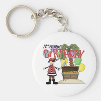 Pirate Birthday Basic Round Button Key Ring