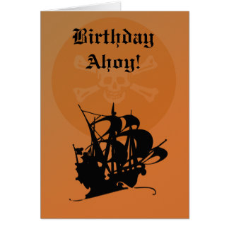 Pirate Birthday card