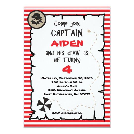 Pirate Birthday Invitation