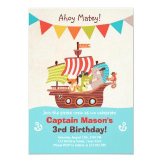 Pirate Birthday invitation Boy Matey Pirate party