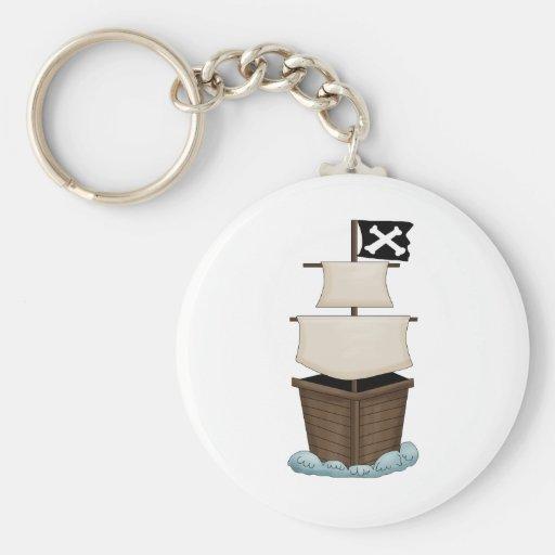 Pirate Birthday Party Keychain