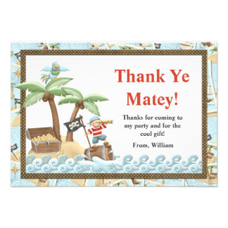 Pirate Birthday Thank You Card