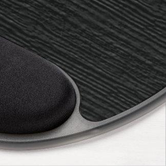 Pirate Black Wood Grain Texture Gel Mouse Pad