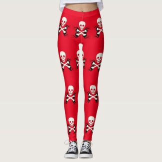 Pirate Bones Skull Leggings