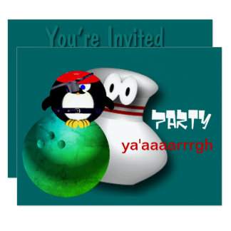 Pirate Bowling Party Invitations Customisable