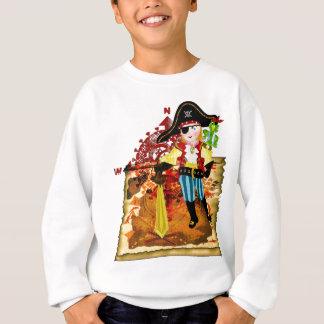 Pirate boy and treasure map t-shirt