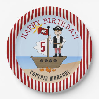 Pirate Boy Birthday Party Paper Plate