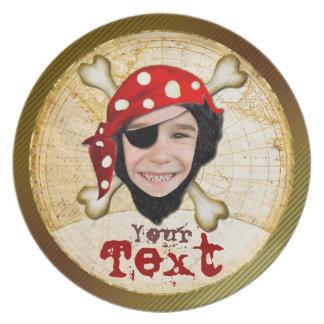 Pirate boy Birthday  plate