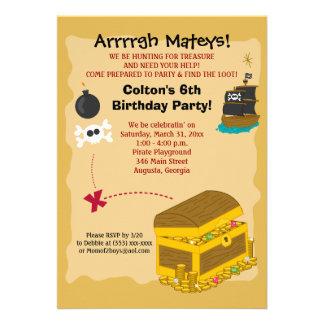 Pirate Boy s Birthday Invitation 5x7