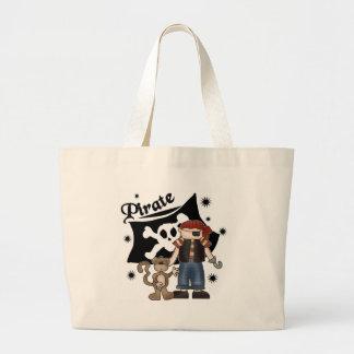 Pirate Boy with  Monkey Jumbo Tote Bag