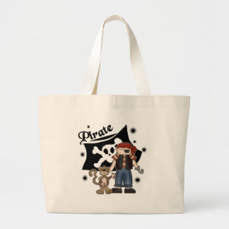 Pirate Boy with  Monkey Canvas Bags
