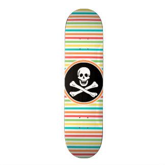 Pirate Bright Rainbow Stripes Skateboards