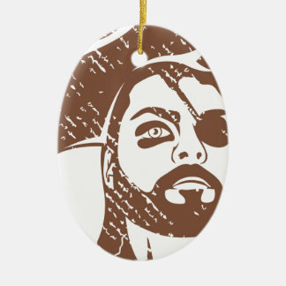 Pirate Captain grunge Ceramic Ornament