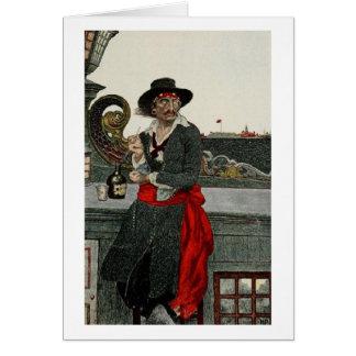 Pirate Captain Kidd Greeting Card