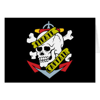 Pirate Captain Tattoo Card