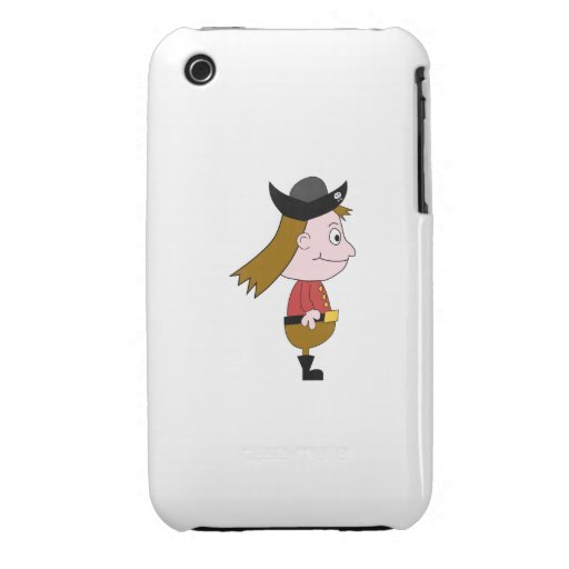 Pirate Cartoon Character. iPhone 3 Case