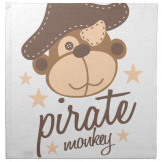 Pirate cartoon cool napkin