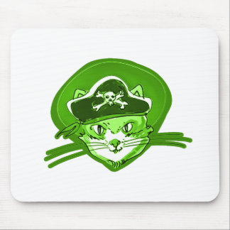 pirate cat cartoon style mouse pad