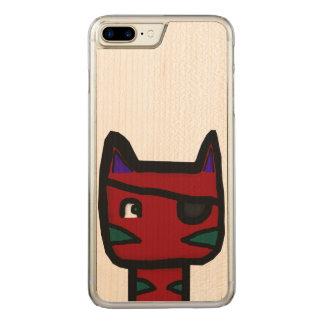 Pirate Cat Phone Carved iPhone 8 Plus/7 Plus Case