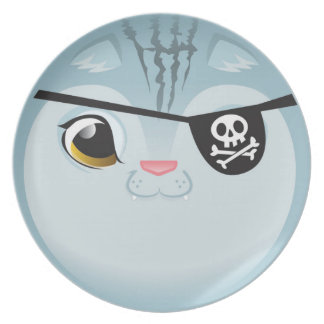 Pirate Cat Plate