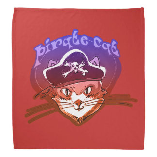 pirate cat sweet cartoon bandana