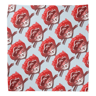 pirate cat sweet cartoon tiled pattern bandana
