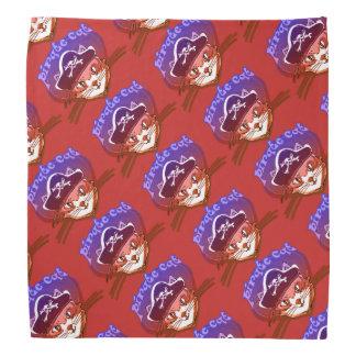 pirate cat sweet cartoon tiled pattern bandana