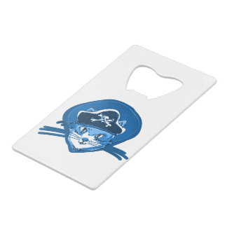 pirate cat sweet kitty blue tint cartoon