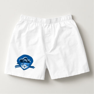 pirate cat sweet kitty blue tint cartoon boxers