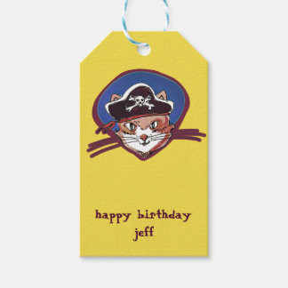 pirate cat sweet kitty cartoon gift tags
