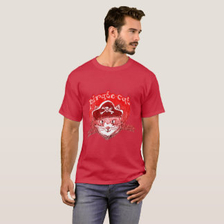 pirate cat sweet kitty with pirate hat cartoon T-Shirt