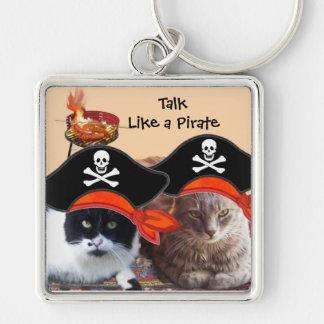PIRATE CATS ,Talk like a Pirate Day Keychain