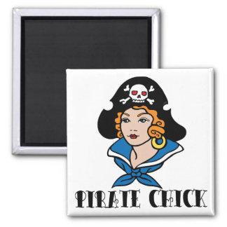 Pirate Chick Tattoo Magnet