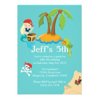 Pirate Children s Birthday Party Invitation Invite