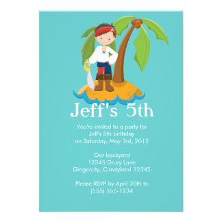 Pirate Children s Birthday Party Invitation Personalized Invitations