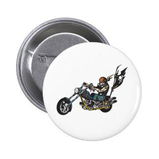 Pirate Chopper Skull Crossbones Flag 2 Inch Round Button