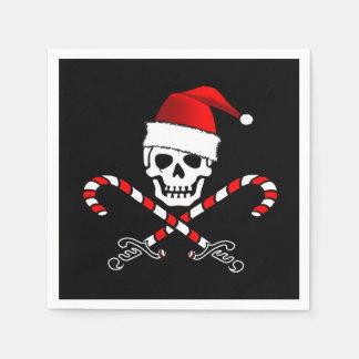 Pirate Christmas Party Paper Napkins Disposable Serviette