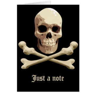 Pirate Club - Skull and Crossbones Note Card