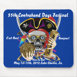 Pirate Contraband Days Louisiana 30 Colors Mouse Pad