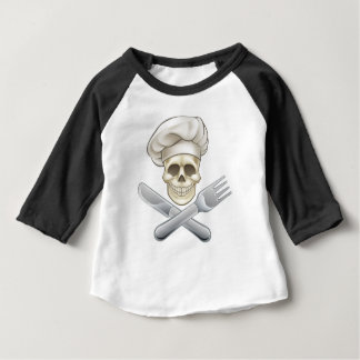 Pirate Crossbones Chef Cartoon Baby T-Shirt