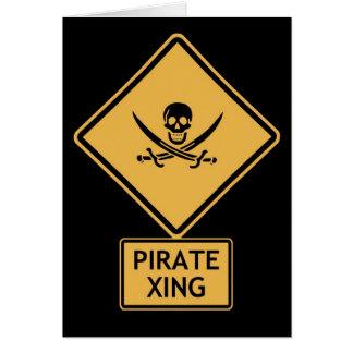 pirate crossing card