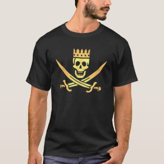 Pirate Crown ancient gold t-shirt