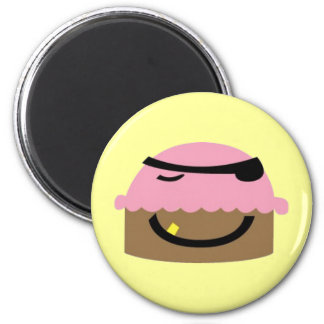 Pirate Cupcake Magnet