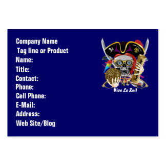 Pirate Days Dual Logo Bicentennial Pls View Notes Business Card Template