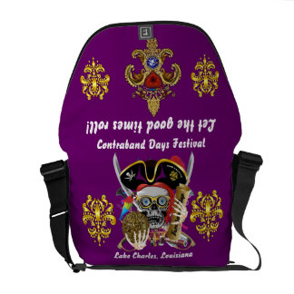Pirate Days Dual Logo Bicentennial  Pls View Notes Courier Bags