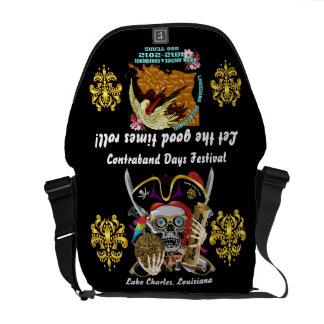 Pirate Days Dual Logo Bicentennial  Pls View Notes Messenger Bag