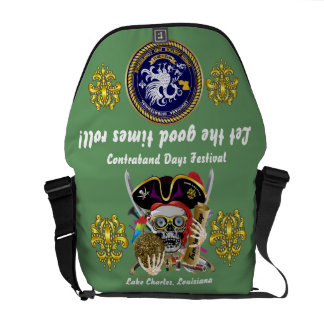 Pirate Days Dual Logo Bicentennial  Pls View Notes Messenger Bags